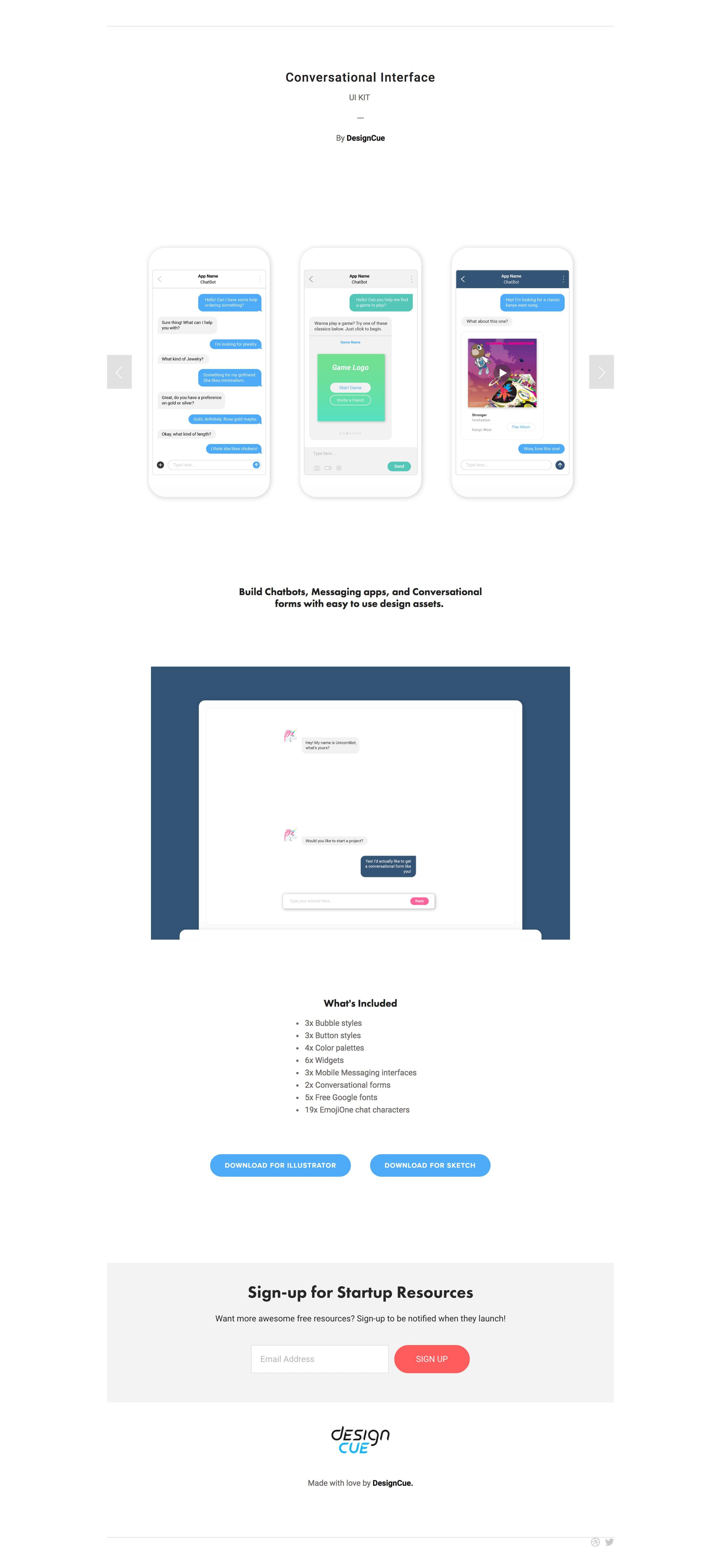 Conversational Interface Big Screenshot