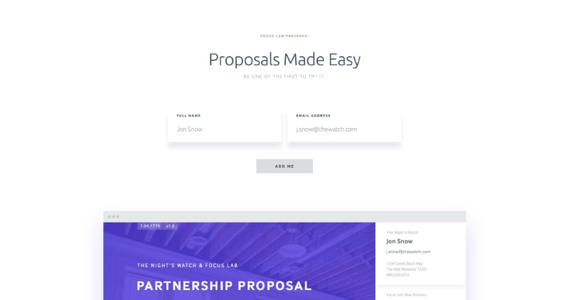 Proposal by Focus Lab