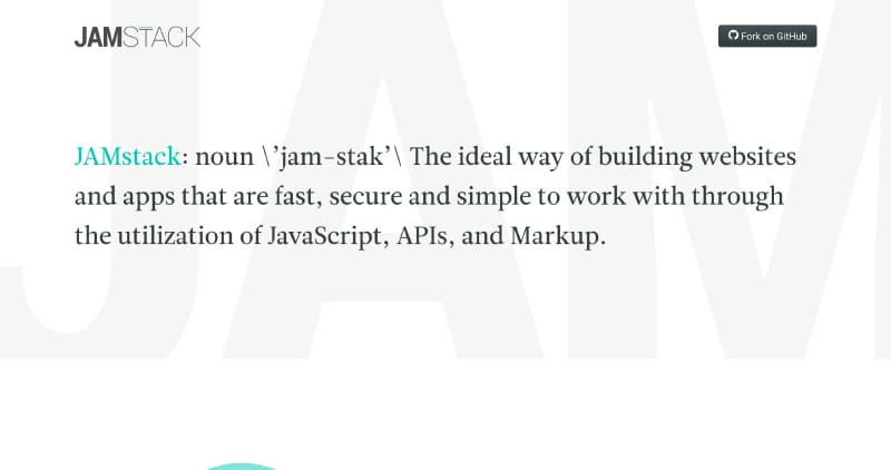 JAMstack | JavaScript, APIs, and Markup