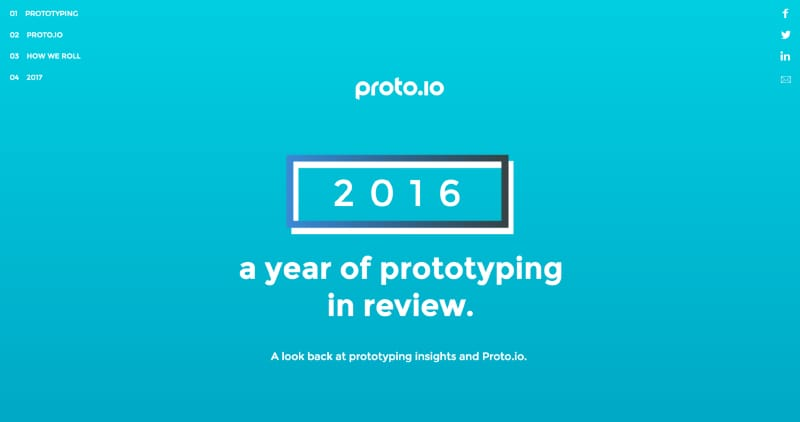 Proto.io 2016 - A Year of Prototyping in Review