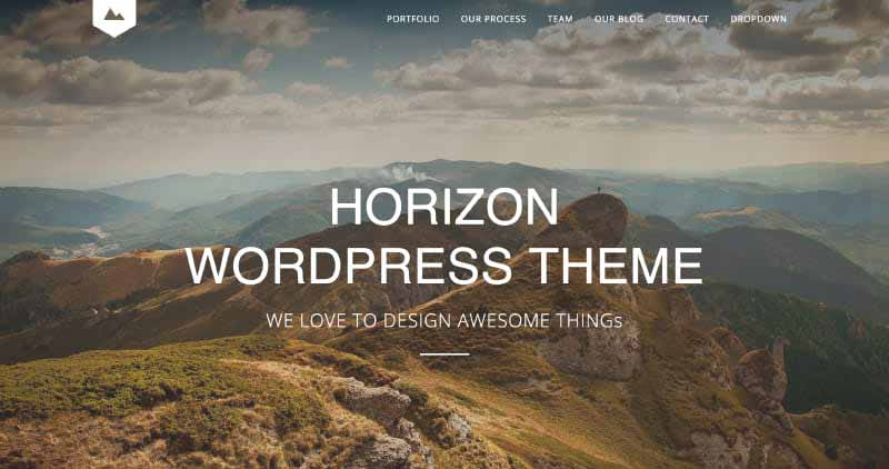 Horizon One Page WordPress Theme