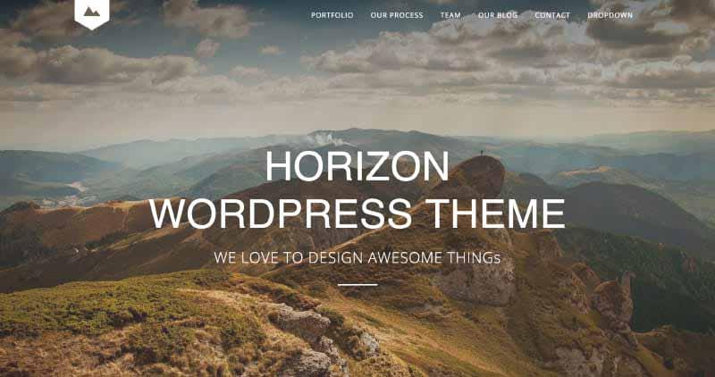 Horizon One Page WordPress Theme