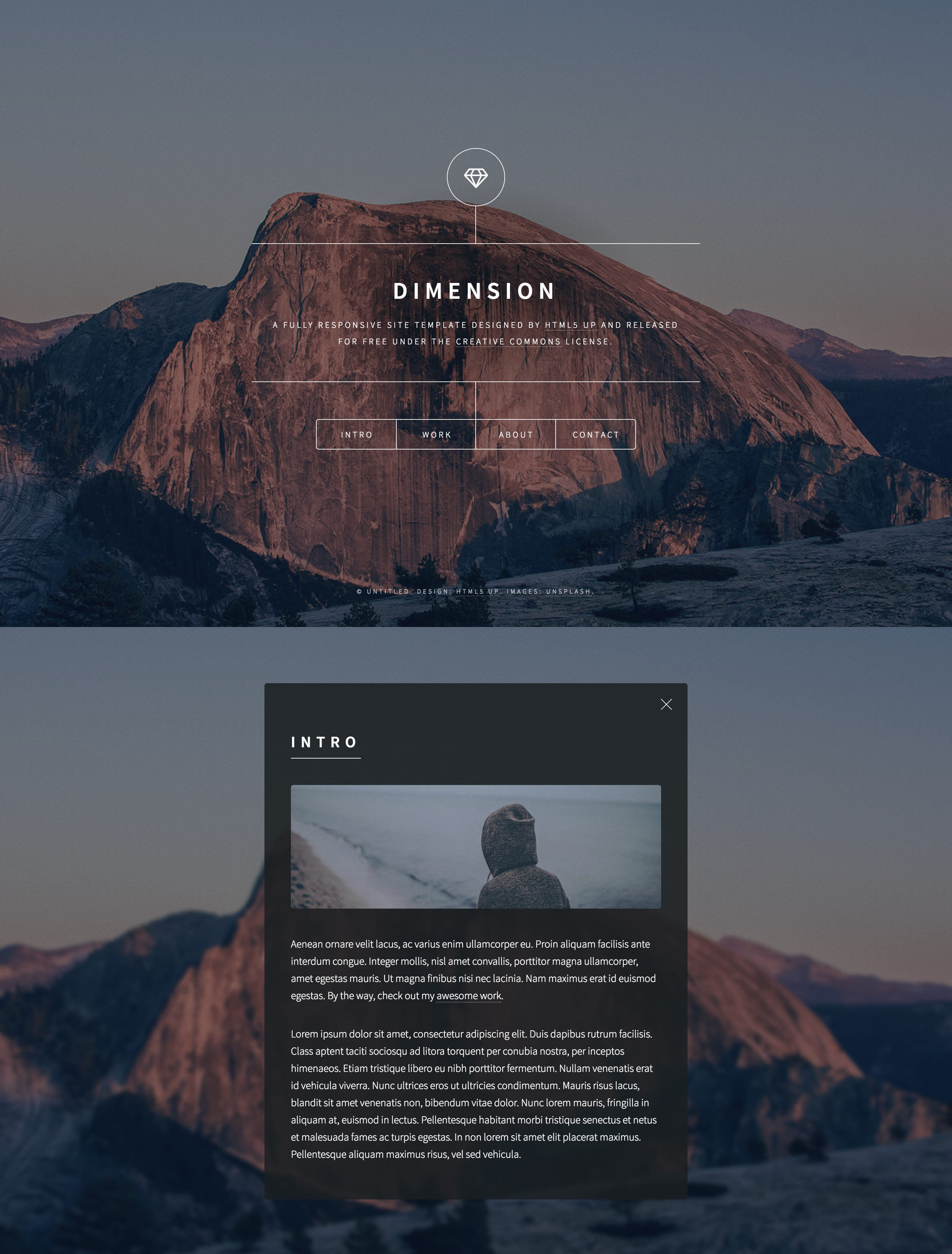 Dimension - Free One Page Template Download and Review