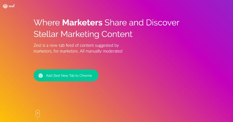Zest - Share and discover stellar marketing content