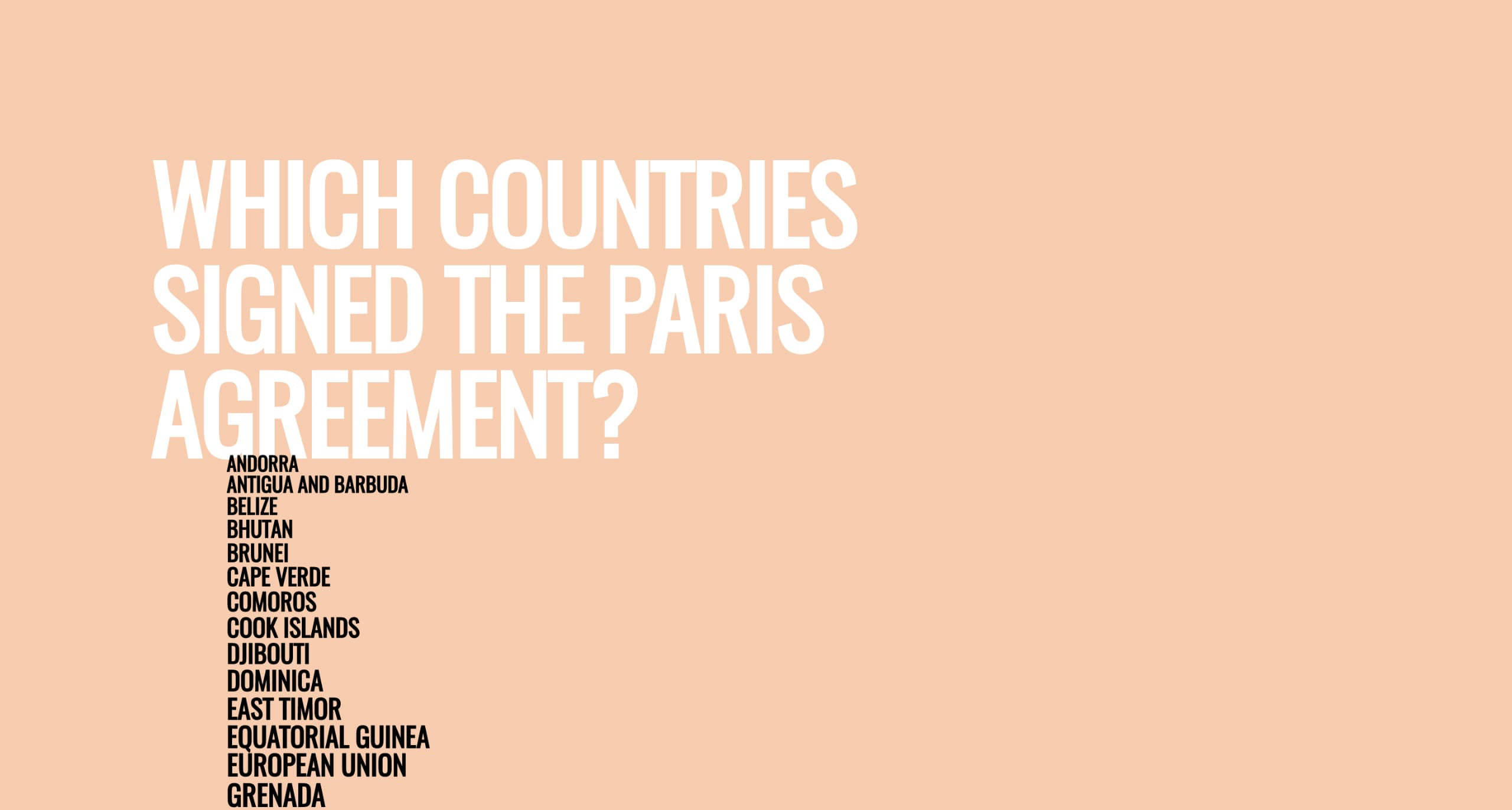 Which Countries Signed The Paris Agreement E Page