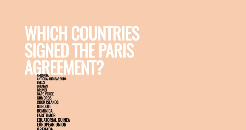 Which Countries Signed the Paris Agreement?
