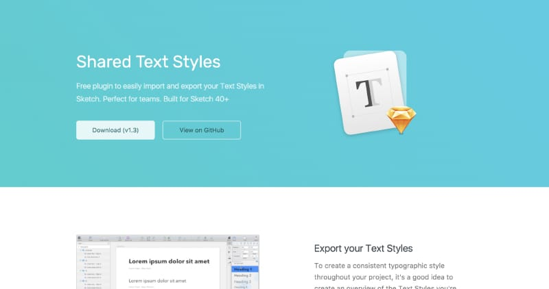 Shared Text Styles