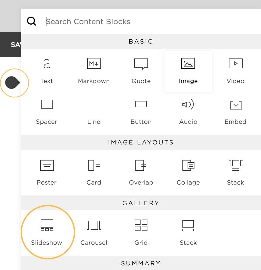 Image Slideshow content block
