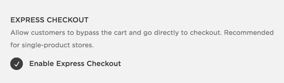 Enable Express Checkout