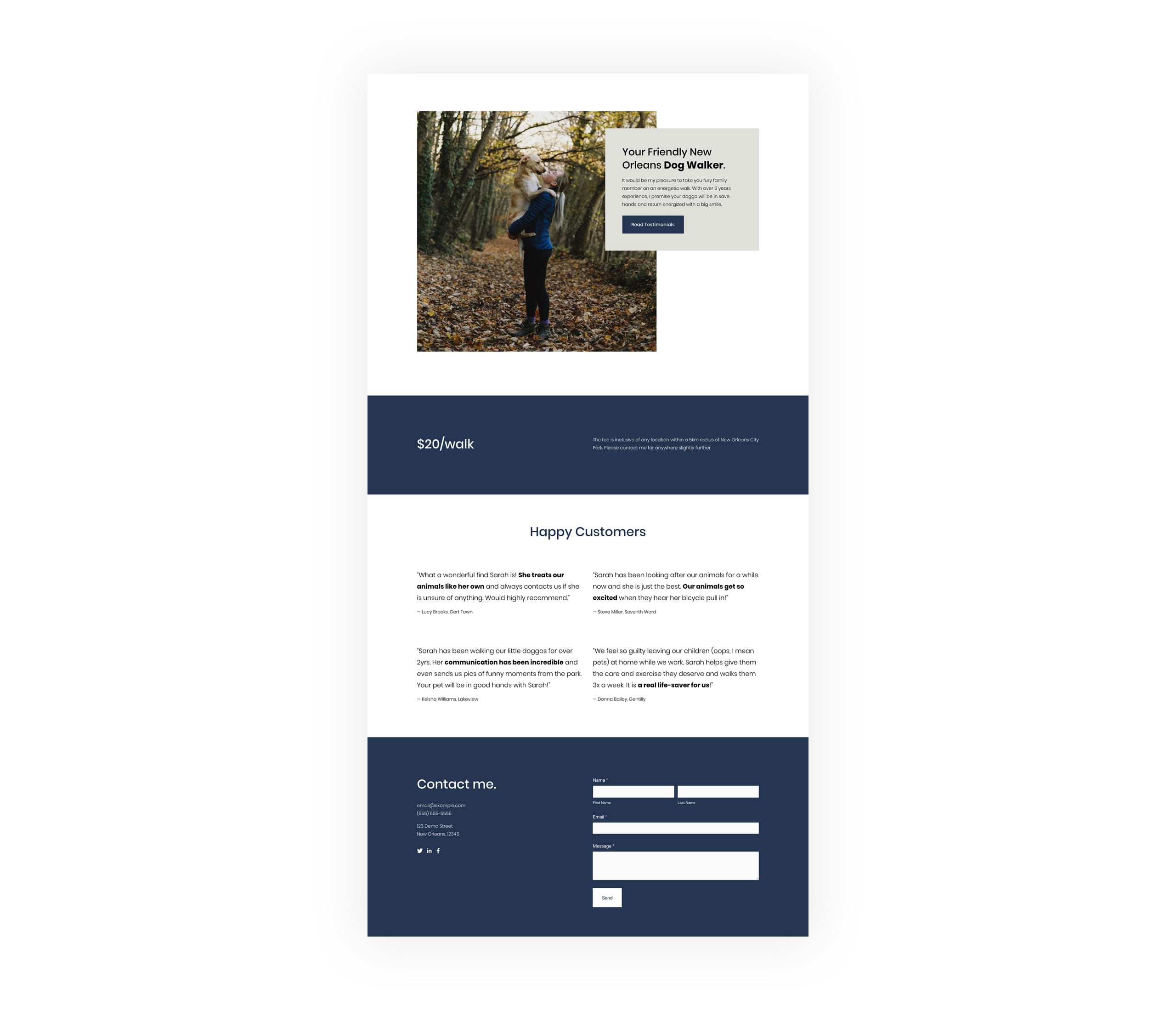 Landing Page Overview