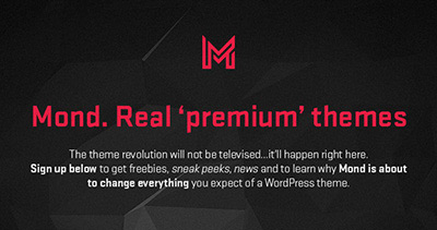 Mond - Join the Theme Revolution.