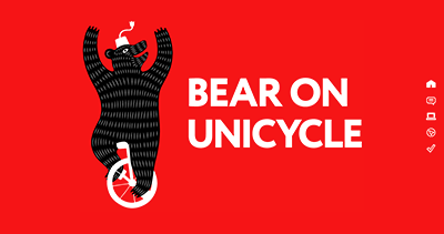 Bear On Unicycle, Adelaide