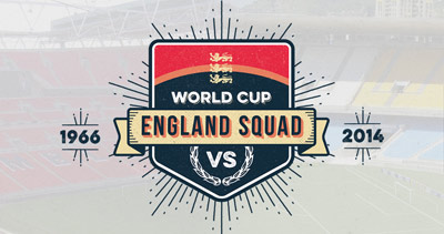 England's World Cup Squad - 1966 vs 2014