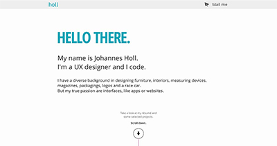 Portfolio of German UX Designer Johannes Holl