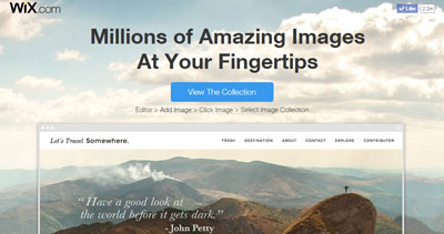 Wix - Million of Images At Your Fingertips