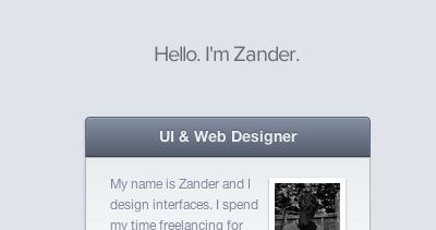 Zander Brade - UI & Web Designer