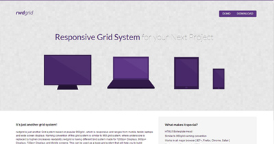 RWD Responsive CSS Grid System
