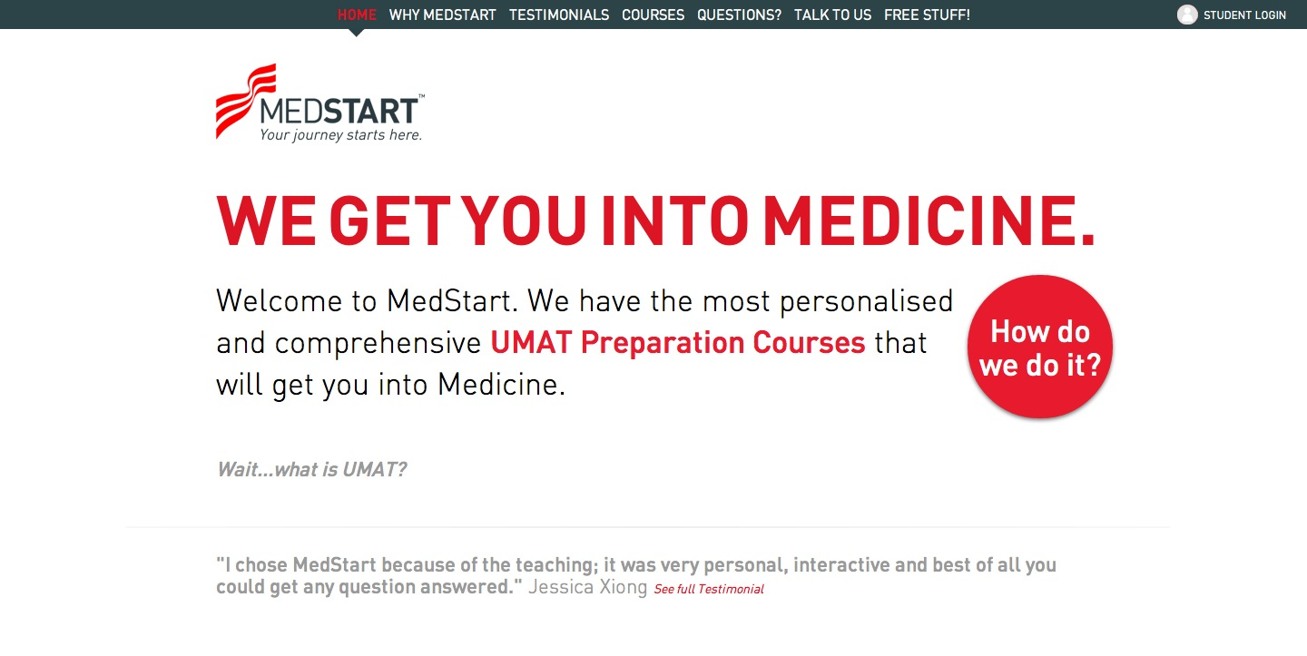 MedStart UMAT Preparation Big Screenshot