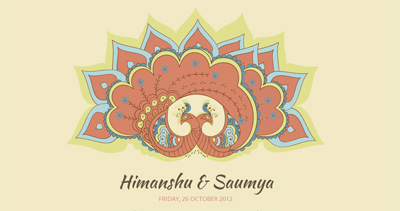 Saumya + Himanshu Wedding Website