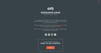 Handcrafted websites & Products | Siddharth Arun