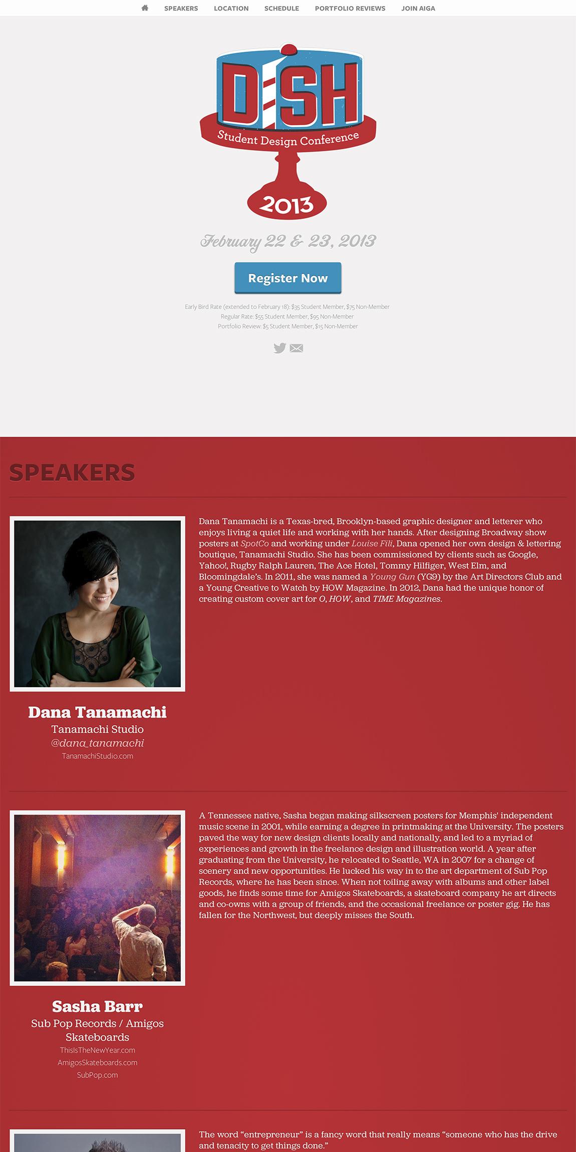AIGA Dish Conference 2013 Big Screenshot