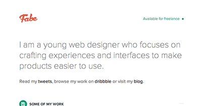 Fabe - Designer & Developer