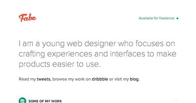 Fabe - Designer & Developer