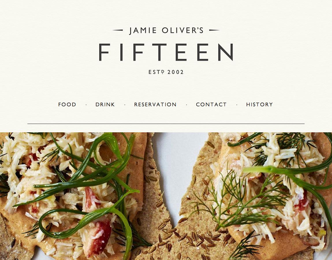 Jamie Oliver S Fifteen Most Loved Website Award
