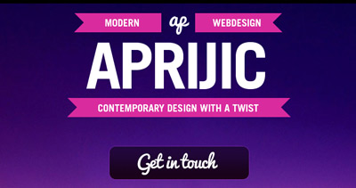 Aprijic web design