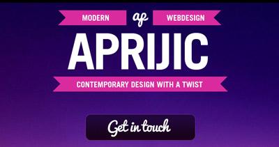 Aprijic web design