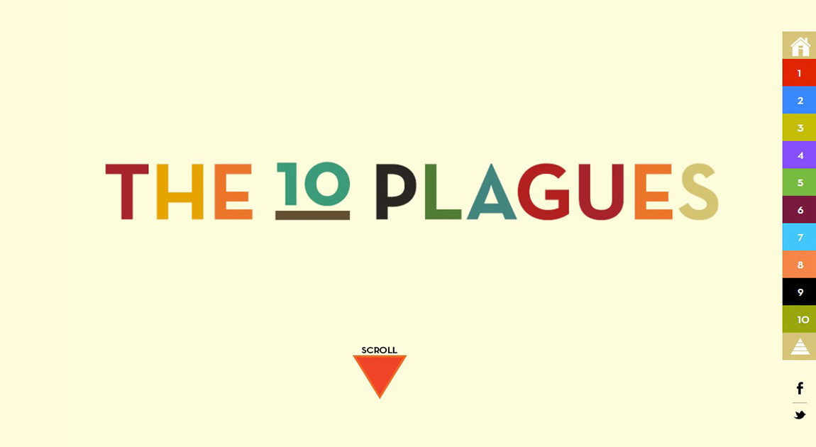 The 10 Plagues - One Page Website Award