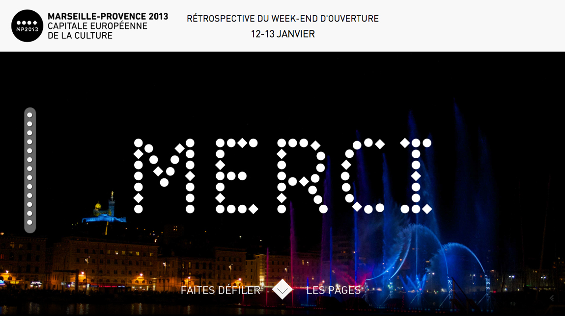 Merci – Marseille-Provence 2013 - One Page Website Award