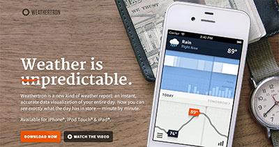 Weathertron App for iPhone & iPad
