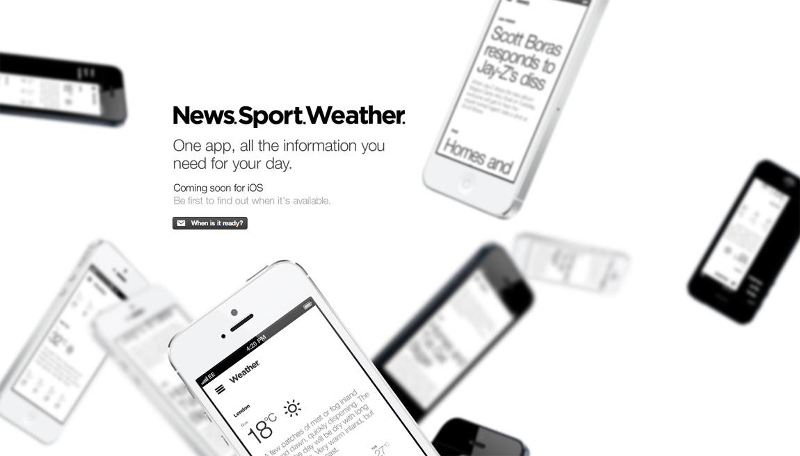 News.Sport.Weather. Big Screenshot
