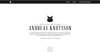 The portfolio of Andreas Knutsson