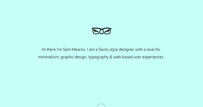 Sam Mearns - Web designer