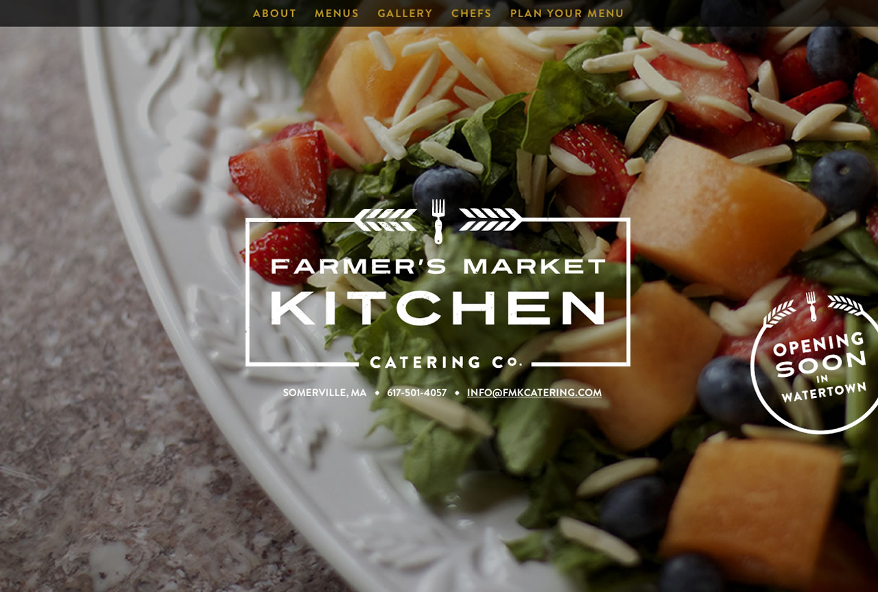 Farmer S Market Kitchen Catering Co One Page Website Award