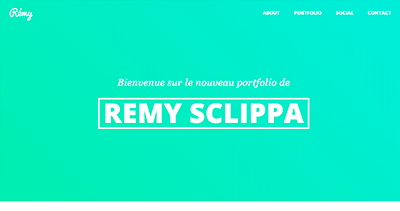 Rémy Sclippa - Web Designer & Front-End Developer