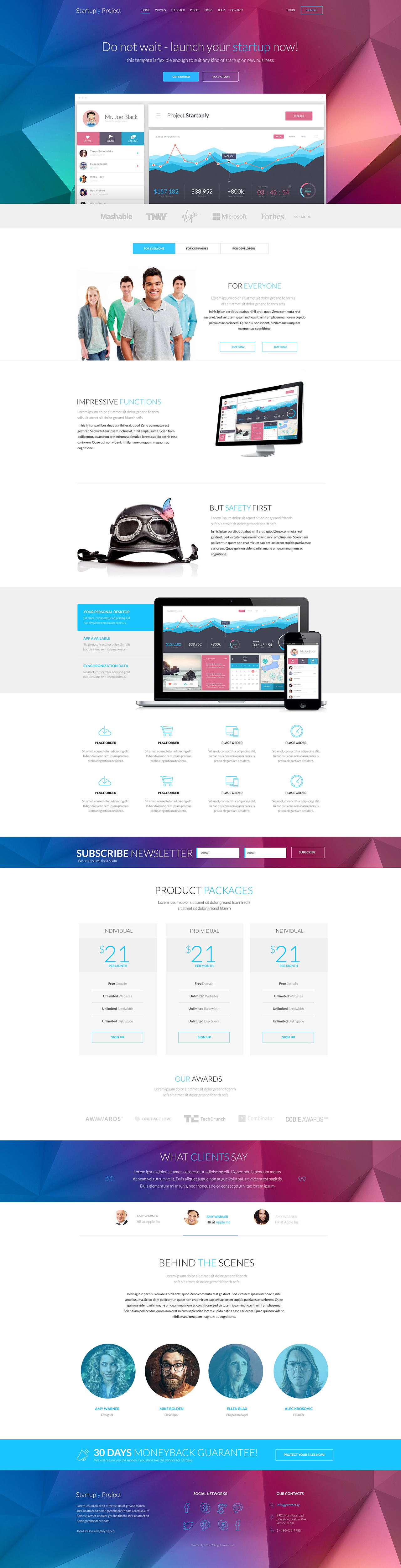 Startuply one page template review startuply big screenshot pronofoot35fo Image collections