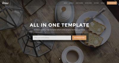 Drew - Marketing Landing Page HTML Template