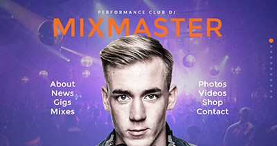 MixMaster - DJ / Producer Website Muse Template