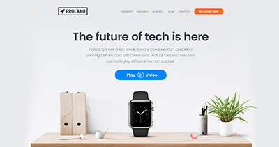 Proland - Product Landing Page Template